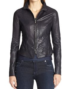 46db7536e9b26 Taushif Style Women Stylish Slimfit Lambskin Moto Biker Leather Jacket WJ  70 XS Black