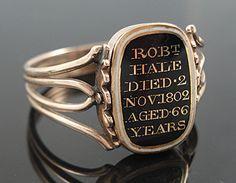 RARE Georgian 15ct Gold Swivel Enamel Hair Locket Ring | eBay