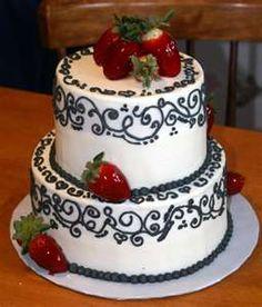 Strawberries on Beautiful Cake Designs - Bridal/Groom Cakes