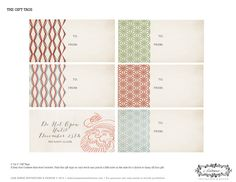 Tags!  Free Holiday Printables from Lisa Marie Invitations and Design