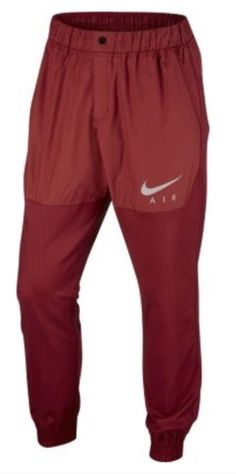 d30d3ac82d9e NWT NIKE Air Woven Jogger Slim Fit Active Pants 832204 674 Red Mens Size  2XL XXL
