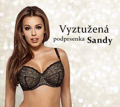 Nová svůdná podprsenka Sandy v kombinaci černé a tělové barvy, která zakulatí Vaše poprsí. Využijte slevu až -35 % na podprsenky.