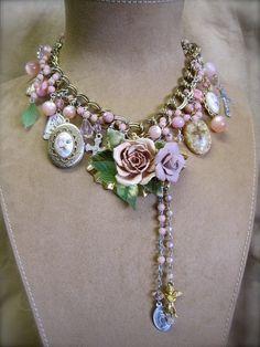 Passion of the Roses Vintage Assemblage Necklace by MorticiaSnow, $278.00