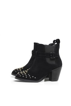 ac60416630 Suede One Buckle Stud Ankle Boot x Studded Ankle Boots
