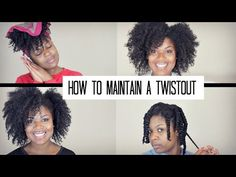 How To Maintain a Twist Out on Natural Hair - YouTube