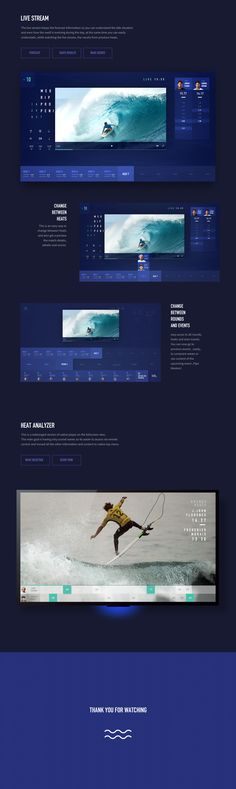World Surf League Apple TV app is a product design concept focused on improving the experience of WSL live stream and events info. App Ui Design, Web Design, Desgin, Exterior Siding Colors, Surf Forecast, World Surf League, Home Improvement Tv Show, Sports App, Tv App