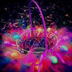 """Got the idea on pinterest and this is my version of the """"tutu Easter basket""""."""