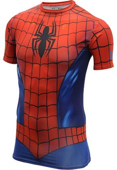 UNDER ARMOUR Men's Alter Ego Spider-Man Suit Short-Sleeve Compression T-Shirt
