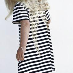 YmamaY Pearl Island Dress Nvy/Wht/Gd $62.90 Kids Fashion, Fashion Outfits, Boutique Clothing, Tutu, Style Me, Short Sleeve Dresses, Pearl, Shirt Dress, Island