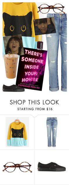 """You'll either love it or hate it!"" by elliewriter ❤ liked on Polyvore featuring Current/Elliott, Retrò, Vans and Essie"