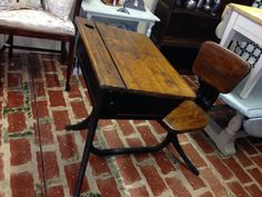 Vintage School Desk w attached swivel seat.  by SimplifiedStyles, $85.00