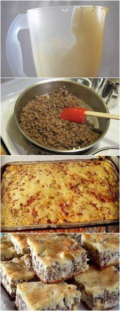 RECEITA DA MAMÃE,PENSA EM UMA TORTA BEM CASEIRA..HUMM!! VEJA AQUI>>>Bata no liquidificador primeiro o leite, o óleo, os ovos, margarina depois farinha e o fermento em pó e o orégano, bata bem Depois faça o molho de carne moída, corte os temperos todos e refogue a carne #MASSAS#TORTADECARNE#TORTAS#