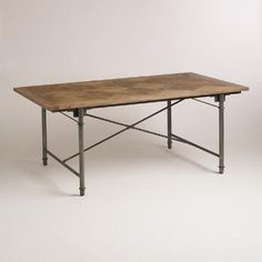 One of my favorite discoveries at WorldMarket.com: Chevron Parquet Dining Table