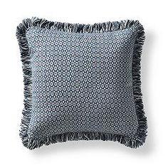 Deco Foulard Denim Outdoor Pillow