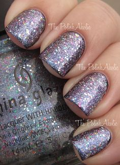 China Glaze Prismatic collection in Liquid Crystal (layered over black polish)