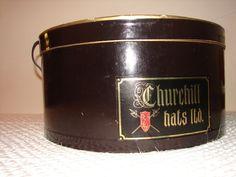 Vintage Hat box Churchhill Hat ltd.