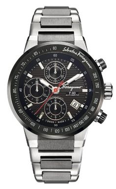 Salvatore Ferragamo Men's F55LCA78909 S789 F-80 Chronograph Tachymeter Automatic Watch #Salvatore #Ferragamo