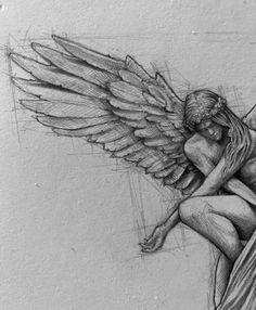 Pencil Sketch artist Efraín Malo | Drawing | ARTWOONZ Dark Art Drawings, Pencil Art Drawings, Cool Drawings, Angel Sketch, Angel Drawing, Sketchbook Drawings, Drawing Sketches, Sketching, Beautiful Pencil Sketches