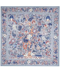 Grey Tree of Life Print Silk Scarf, Liberty London. Shop the latest Liberty London Scarves collection at Liberty.co.uk