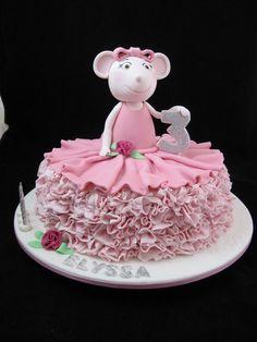 Angelina Ballerina - by Denise Ballet Birthday Cakes, Baby First Birthday Cake, Ballerina Birthday Parties, Ballerina Cakes, Birthday Cakes For Men, Ballerina Party, Husband Birthday, 5th Birthday, Happy Birthday