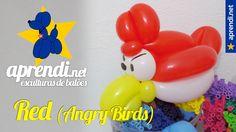Esculturas de balões - Red do Angry Birds