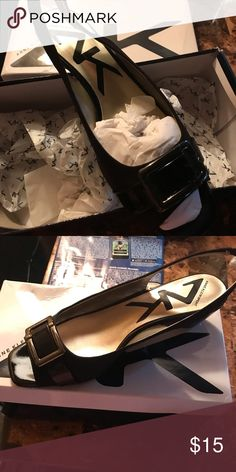 ea18204bd35 My Posh Closet · Anne Klein Shoes Black peep toe wedge with sling back.  Like new