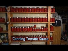 Italian Grandma Makes Canned Tomato Sauce. She is so cute and very good at cooking. I enjoyed watching and felt like home . Italian Tomato Sauce, Tomato Sauce Recipe, Canned Tomato Sauce, Canning 101, Home Canning, Canning Recipes, Canning Tomatoes, Preserving Food, Preserving Tomatoes