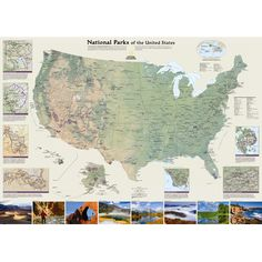 National Geographic Maps United States National Parks Wall Map & Reviews | Wayfair