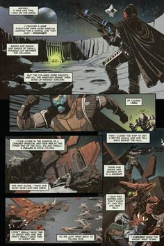 Small comic on the grimore card in which Cayde-6 encounters a female vandal whilst batting the Hive