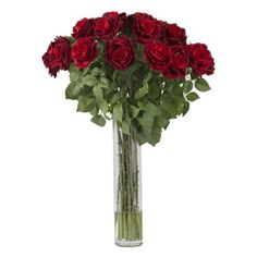 Large Red Rose - Silk Flower Arrangement