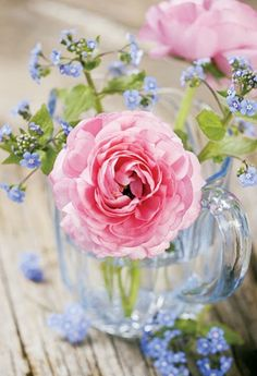❥ fresh picked flowers in a sweet little glass… reminds me of simpler times when I was a child