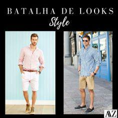BATALHA DE LOOKS  CAMISA LISTRADA X CAMISA XADREZ Looks Style, Capri Pants, Photo And Video, Videos, Instagram, Fashion, Striped Jersey, Stripes, Checked Shirts
