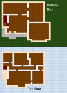 Minecraft House Blueprints Layer By Layer 07 minecraft