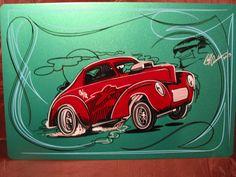Garage Art Rat Rod Collector Willys Gasser 1941 Rat Fink Von Dutch Hot Rod   eBay