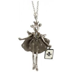 Mouse Pendant with Playing Card Charm - Servane Gaxotte