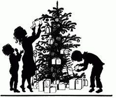 Free printable Christmas silhouette