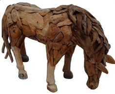 Suppliers of a spectacular life-size driftwood horse, small horse sculpture and driftwood horse heads. Horse Sculpture, Animal Sculptures, Funky Decor, Outdoor Settings, Horse Head, Driftwood, Drinking, Miniature, Range