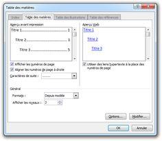 Créer une table des matières automatique sous Word