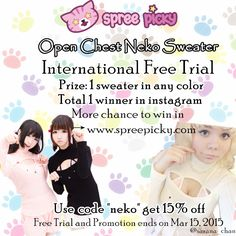 Join this lovely free trial of @SpreePicky   Follow and Repin^^    Click to join: http://www.spreepicky.com/34817/  #nekosweater   #sexycutesweater      #freetrial   #spnekofreetrial