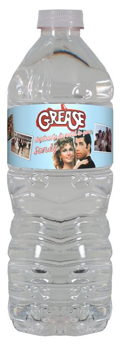 Grease personalized water bottle labels – worldofpinatas.com
