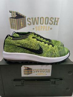 f7f669bd03941 Details about Nike Women Flyknit Racer G Golf Shoes Volt Sequoia Black  909769-700 sz 7 SAMPLE