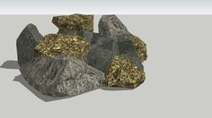 Large preview of 3D Model of Pile of rocks