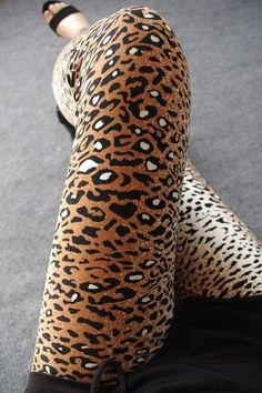 Sexy Microfiber Leopard Print Leggings! 7 Styles To Choose - One Size Spandex