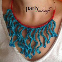 Crochet necklace @partyandcraft