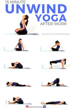 <Use this 15 minute Yoga to UNWIND after work to stretch out, reduce stress and a. Use this 15 minute Yoga to UNWIND after work to stretch out, reduce stress and anxiety, or as bedtime yoga. (Click through for FREE video) Yoga Bewegungen, Yoga Pilates, Yoga Flow, Ashtanga Yoga, Yoga Meditation, Iyengar Yoga, Kundalini Yoga, Pilates Reformer, Vinyasa Yoga