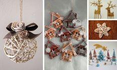 Adornos navideños de papel periódico tejido Willow Weaving, Paper Weaving, Quilling, Advent, Holiday Decor, Christmas, Home Decor, Newspaper, Blog