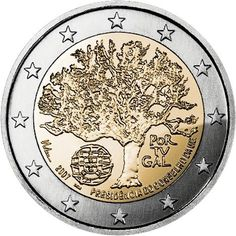 2 Euro Commemorative Coins: 2 euro coins Portugal Portuguese Presidency of the Council of the European Union. Commemorative 2 euro coins from Portugal Euro Währung, Portugal Euro, Euro Coins, Gold Money, Show Me The Money, Commemorative Coins, World Coins, Money Matters, Coin Collecting
