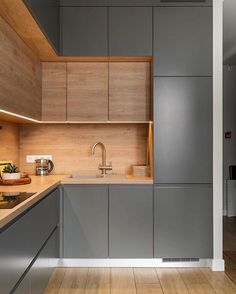 Contemporary style kitchen designs are among the methods to go. You do not require a complicated kitchen so it will be stick out, just some unique designs that can make your kitchen area the envy of the neighbors. New Kitchen Interior, French Kitchen Decor, Modern Kitchen Interiors, Kitchen Room Design, Farmhouse Kitchen Decor, Kitchen Cabinet Design, Modern Kitchen Design, Home Decor Kitchen, Home Interior Design