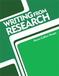 Writing from Research Student Text covers every aspect of research writing for the high school student. Includes patterns for the MLA and CBE styles.