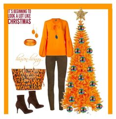 """""""Christmas coming"""" by hinson-hunny ❤ liked on Polyvore featuring Louis Vuitton, J Brand, Sergio Rossi, Chico's, Skinbiquini and Sixtrees"""